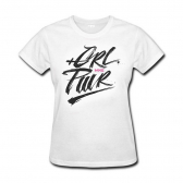 Camiseta Girl Power Feminina Branco Gg Mks Combat - Mkp000026000654