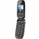 Celular Flip Up Câmera Mp3 Dual Chip Preto Multilaser P9022 - Mkp000525001286