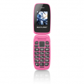 Celular Flip Up Câmera Mp3 Dual Chip Rosa Multilaser P9023 - Mkp000525001287
