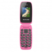 Celular Flip Up Multilaser Dual Chip Mp3 Rosa P9023 P9023 - Mkp000278000210