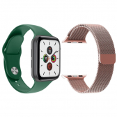 Kit 1 Smartwatch  Verde Android Ios + 1 Pulseira Extra Rosa - Mkp000919000257