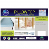 Pillow Top P/ Berço Visco Nasa Gel Infusion Azul - Aumar - Mkp000340000024